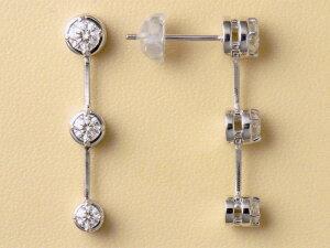 【THELAZAREDIAMOND】ラザールダイヤモンドスリーストーンピアス予約受付中トリノで金メダルストがつけていました。