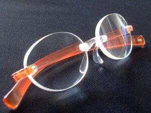 女性向けの縁なしのオシャレな老眼鏡 ピンク・オレンジ ケース付 シニアグラス【楽ギフ_包装】【楽ギフ_のし】【楽ギフ_のし宛書】【楽ギフ_メッセ入力】