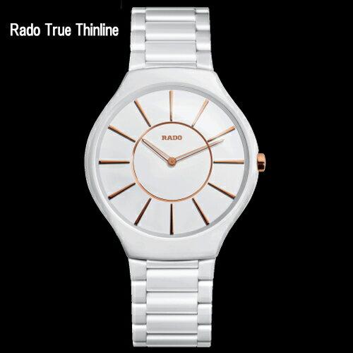 (あす楽)【ポイント最大21倍!】 【RADO】ラドー Rado True Thinline  ラドー トゥルー シンライン ホワイト クオーツ メンズ R27957102 【送料無料】【メンズ】【ユニセックス】10P14Jun18