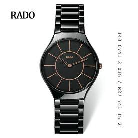 【ポイント最大21倍!】【RADO】ラドー Rado True Thinline  New ラドー トゥルー シンライン クオーツ ブラック R27741152【楽ギフ_のし宛書】【楽ギフ_包装】【楽ギフ_メッセ入力】【送料無料】10P04Jun19