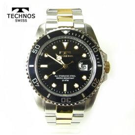 (あす楽)テクノス 腕時計 (TECHNOS)  ブラック ダイバーズ20気圧防水 T2118TB メンズ【RCP】【半額】【最安値挑戦】【送料無料】【父の日】【ホワイトデイ】【初売り】