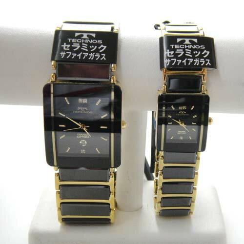 (あす楽)テクノス ペアウオッチ 腕時計 (TECHNOS) 3気圧防水 サファイアガラス T9137GB-T9796GB【RCP】【最安値挑戦】【送料無料】02P04Sep18