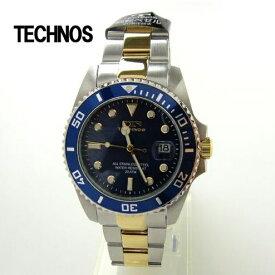 テクノス 腕時計 (TECHNOS)  ブルー ダイバーズ20気圧防水 T2118TN メンズ【RCP】【送料無料】【楽ギフ_包装】 【ホワイトデイ ギフト】02P04Jun19