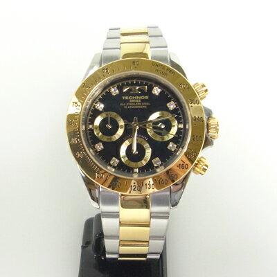 (あす楽)テクノス(TECHNOS)腕時計  クロノグラフ 10気圧防水 TGM640TB【送料無料】【RCP】【スーパーSALE】【ホワイトデイ】02P04dec18