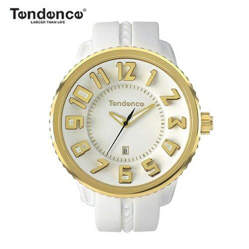【正規品】テンデンス(TENDENCE) ラウンド ガリバー TG043023 ホワイト×ゴールド 腕時計 【正規登録店】02043023【送料無料】【楽ギフ_包装】10P02Dec17