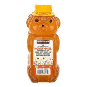 【新品】コストコKIRKLANDカークランド 100%カナディアンハニー(蜂蜜・はちみつ・ハチミツ)750g カナダ産ハニー (3本セット)ベアージャグ