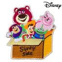 Disney(ディズニー) トイストーリー ワッペン(大) おもちゃ箱 ☆シール・アイロン両用タイプ☆服や小物がかわいく変身…