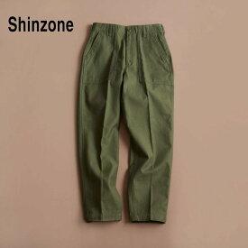 【THE SHINZONE|ザ シンゾーン】ベイカーパンツ/15AMSPA18 サイズ:p - 38 カラー:全3色 オリーブ ネイビー ベージュ