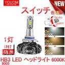 1灯分バイクLEDヘッドライト H11 6000Lm 6500K ハロゲンフィラメント並みの細い発光 角度調整機能付き[1年保証][YOUCM]