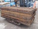枕木 国産中古Aグレード 2.1mx21cmx12cm 50kg 1本
