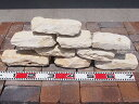 積石 ニューコッツランドストーン約20-30cmx4-5cm 17kg−23kg/乱杭/