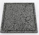 溶岩プレート25x25x厚み1.8〜2cm気泡ありタイプ溝付き(3kg)/焼肉/溶岩焼/溶岩板