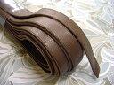 本革持ち手(太) 茶 25mm巾 レザー バッグ材料 ベルト ショルダー ブラウン