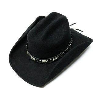 #320031 bullhide (BULLHIDE) 西方帽子-中推卸责任和通过巴克 (带线) 男式女式帽子头戴呢帽牛仔女牛仔服装舞蹈事件感到有点硬黑色黑色 M L XL 0638BL 10P19Dec15