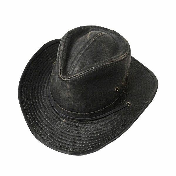 #930058ドーフマンパシフィック(DORFMAN PACIFIC/DPC)ウェザードウエスタンハット(ワイヤー入り) テンガロンハット カウボーイハット メンズ 帽子 あご紐 UPF50 UVカット 紫外線対策 キャンプ グランピング 大きいサイズ 黒 M L XL MC127 【RCP】