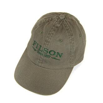 #100006菲爾損失(FILSON)棉布蓋子-CHINO CAP人美國米飯國產MADE IN USA棉布帽子棒球帽戶外釣魚露營登山棒球蓋子名牌標識刺綉鼠尾草綠色綠60075 10P03Dec16