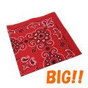 #218127ハバハンク(HAV-A-HANK)オーバーサイズバンダナ(レッド 69×69cm) - 27 OVERSIZED TEXAS PAISLEY BANDANA 衣装…