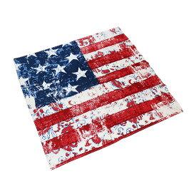 #218248ハブアハンク HAV-A-HANKバンダナ (55×55cm) US FLAG USフラッグ スカーフ ハンカチ ヘアアレンジ リボン 風呂敷 ポケットチーフ 大判 正方形 お弁当包み 星条旗 アメリカ国旗 染め タイダイ 緑 グリーン
