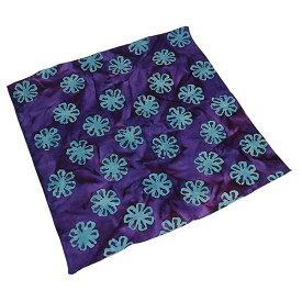 #218258ハブアハンク HAV-A-HANKバンダナ (55×55cm) BATIK ANNA/PURPLE バティック タイダイ 染め スカーフ ハンカチ ヘアアクセ 首巻き 腕巻き 風呂敷 正方形 大判 弁当包み 紫 青