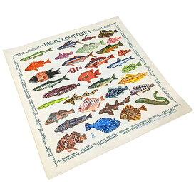#138009ザ・プリンテッドイメージ THE PRINTED IMAGE バンダナ PACIFIC COAST FISHES / パシフィックコーストフィッシーズ 55×55cm
