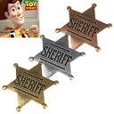 #986000SHERIFF型押し-保安官ピンバッジ コスプレ ディズニーキャラクタートイストー...