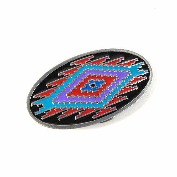 #986015ロックマウント(Rockmount)バックル - アメリカンネイティブ柄オーバル メンズ レディース ベルト ウエスタンバックル アメリカンネイティブ インディアン ルート66 ROUTE66 オーバル 楕円形 交換用 ブラック レッド ブルー 35mm 【RCP】