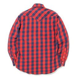 #152023RUDDOCK(ラドック)チェック柄ネルシャツウエスタンシャツ長袖シャツチェックシャツフランネルシャツメンズアメリカ産格子柄アメカジ赤レッドSML【RCP】