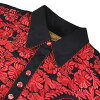 #012005 Scully (Scully) floral embroidered Western shirt-big MEN's FLORAL TOOLED EMBROIDERY SHIRT stage costume rockabilly country flower flowers rose rose size black red black red S M L XL P 634 CHO