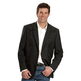 #912163スカリー Scully 2つボタンフローラル刺繍ジャケット / ブレザー 黒 P-733 BLACK 36-42