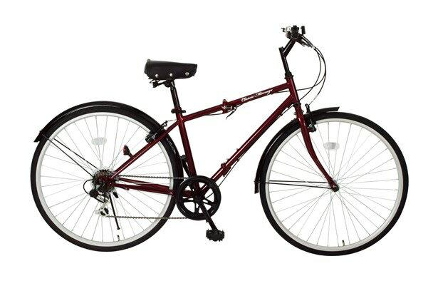【送料無料】【代引不可】Classic Mimugo FDB700C 6S 700C折畳自転車6段ギア付 MG-CM700C[クラシックレッド]【メーカー直送】【楽天】