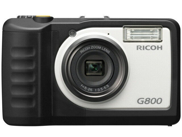 【ポイント5倍】リコー デジタルカメラ RICOH G800 [画素数:1676万画素(総画素)/1600万画素(有効画素) 光学ズーム:5倍 撮影枚数:400枚 防水カメラ:○ 備考:防水:JIS/IEC防水保護等級8級/防塵:JIS/IEC防塵保護等級6級(IP68)/耐衝撃/耐温度-10℃/耐薬品性]
