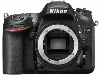 尼康数码单反照相机D7200身体[类型:单反像素数:2472万像素(全部,像素)/2416万像素(有效像素)摄像元件:APS-C/23.5mm×15.6mm/CMOS连写拍摄:7片断/秒重量:675g]