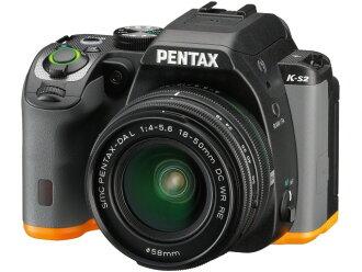 宾得士数码单反照相机PENTAX K-S2双变焦距镜头配套元件[黑色×柳丁][类型:单反像素数:2042万像素(全部,像素)/2012万像素(有效像素)摄像元件:APS-C/23.5mm×15.6mm/CMOS连写拍摄:5.5片断/秒重量:618g]