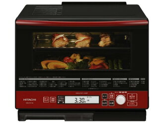 Hitachi electronic oven healthy chef MRO-RV100 (R) [Red] [type: electronic oven oven capacity: 33 L maximum microwave power output: 1000 W]