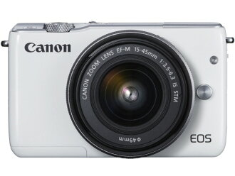 CANON數碼單反照相機EOS M10 EF-M15-45 IS STM透鏡配套元件[白]
