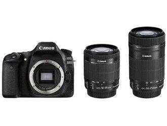 CANON数码单反照相机EOS 80D双变焦距镜头配套元件[类型:单反像素数:2580万像素(全部,像素)/2420万像素(有效像素)摄像元件:APS-C/22.3mm×14.9mm/CMOS连写拍摄:7片断/秒重量:650g]