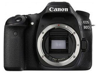 CANON数码单反照相机EOS 80D身体[类型:单反像素数:2580万像素(全部,像素)/2420万像素(有效像素)摄像元件:APS-C/22.3mm×14.9mm/CMOS连写拍摄:7片断/秒重量:650g]