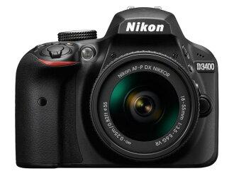尼康数码单反照相机D3400 18-55 VR透镜配套元件[黑色][类型:单反像素数:2472万像素(全部,像素)/2416万像素(有效像素)摄像元件:APS-C/23.5mm×15.6mm/CMOS连写拍摄:5片断/秒重量:395g]