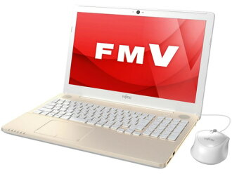 Fujitsu note PC FMV LIFEBOOK AH42/A3 FMVA42A3G [champagne gold] [liquid crystalline size: 15.6 inches of CPU's: Celeron Dual-Core 3,855 U (Skylake)/1.6GHz/2 core CPU score: 1681 HDD capacity: 1,000GB memory capacity: the 4GB OS: Windows 10 Home 64bit]