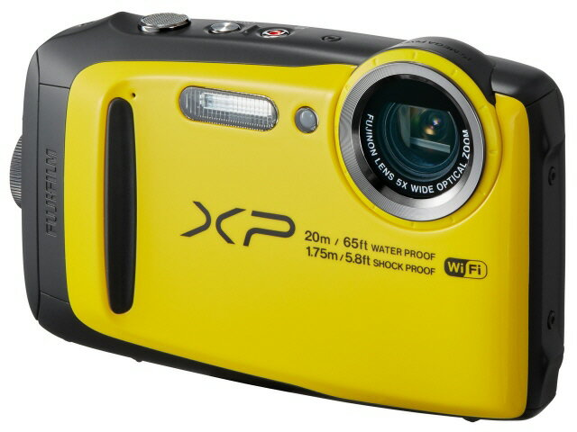富士フイルム デジタルカメラ FinePix XP120 [イエロー] [画素数:1676万画素(総画素)/1640万画素(有効画素) 光学ズーム:5倍 撮影枚数:210枚 防水カメラ:○ 備考:防水:IPX8準拠/防塵機能:IP6X準拠/耐衝撃/耐低温/顔キレイナビ]