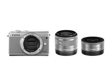 【ポイント5倍】CANON デジタル一眼カメラ EOS M100 ダブルレンズキット [グレー] [タイプ:ミラーレス 画素数:2580万画素(総画素)/2420万画素(有効画素) 撮像素子:APS-C/22.3mm×14.9mm/CMOS 連写撮影:6.1コマ/秒 重量:266g] 【楽天】 【人気】 【売れ筋】【価格】