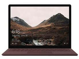 マイクロソフト ノートパソコン Surface Laptop DAG-00108 [バーガンディ] [液晶サイズ:13.5インチ CPU:Core i5 7200U(Kaby Lake)/2.5GHz/2コア CPUスコア:4600 ストレージ容量:SSD:256GB メモリ容量:8GB OS:Windows 10 S] 【楽天】 【人気】 【売れ筋】【価格】