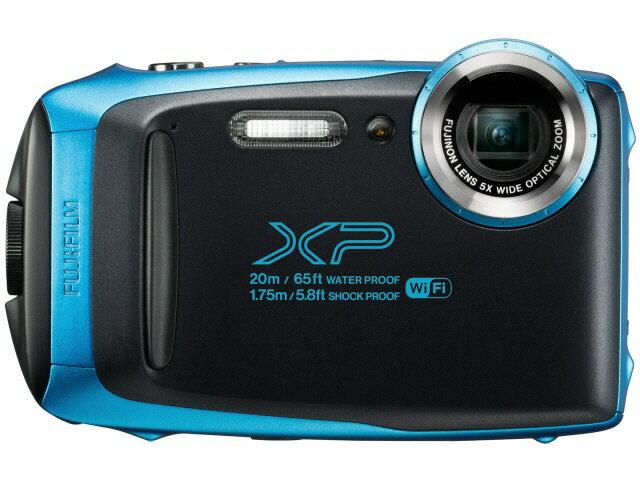 富士フイルム デジタルカメラ FinePix XP130 [スカイブルー] [画素数:1676万画素(総画素)/1640万画素(有効画素) 光学ズーム:5倍 撮影枚数:240枚 防水カメラ:○ 備考:防水:IPX8準拠/防塵機能:IP6X準拠/耐衝撃/耐低温/顔キレイナビ]