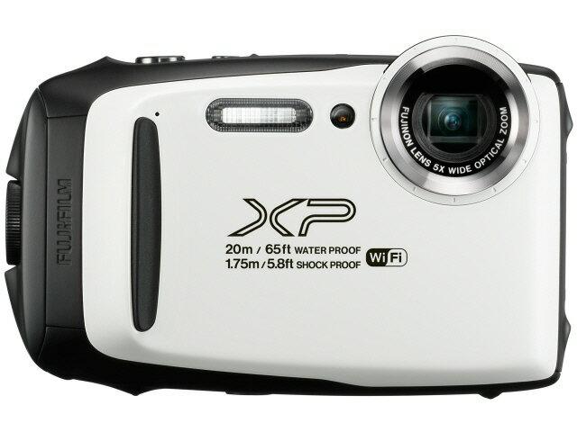 富士フイルム デジタルカメラ FinePix XP130 [ホワイト] [画素数:1676万画素(総画素)/1640万画素(有効画素) 光学ズーム:5倍 撮影枚数:240枚 防水カメラ:○ 備考:防水:IPX8準拠/防塵機能:IP6X準拠/耐衝撃/耐低温/顔キレイナビ]