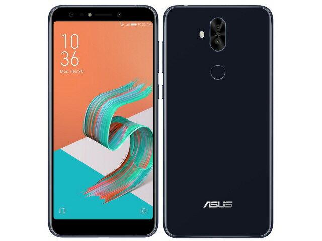 【ポイント5倍】ASUS スマートフォン ZenFone 5Q SIMフリー [ミッドナイトブラック] [キャリア:SIMフリー OS種類:Android 7.1 販売時期:2018年春モデル 画面サイズ:6インチ 内蔵メモリ:ROM 64GB RAM 4GB バッテリー容量:3300mAh]