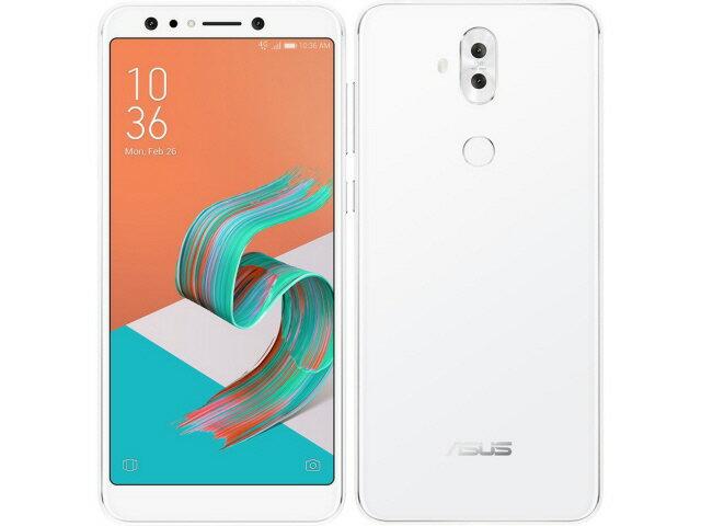【ポイント5倍】ASUS スマートフォン ZenFone 5Q SIMフリー [ムーンライトホワイト] [キャリア:SIMフリー OS種類:Android 7.1 販売時期:2018年春モデル 画面サイズ:6インチ 内蔵メモリ:ROM 64GB RAM 4GB バッテリー容量:3300mAh]