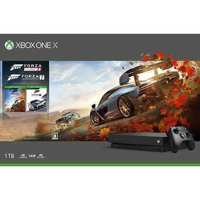 【ポイント5倍】マイクロソフト ゲーム機 Xbox One X Forza Horizon 4/Forza Motorsport 7 同梱版 CYV-00062 [1TB] 【楽天】 【人気】 【売れ筋】【価格】