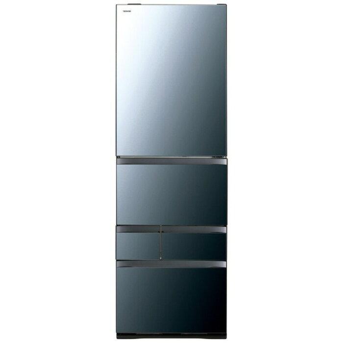 東芝冷凍冷蔵庫VEGETAGR-R500GWL(XK)[クリアミラー]