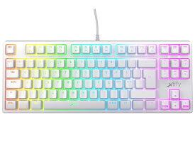 【ポイント5倍】Xtrfy キーボード K4 TKL RGB WHITE 赤軸 [ホワイト] [キーレイアウト:英語88 キースイッチ:メカニカル インターフェイス:USB] 【楽天】 【人気】 【売れ筋】【価格】