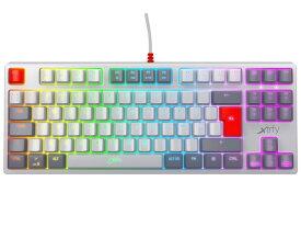 【ポイント5倍】Xtrfy キーボード K4 TKL RGB RETRO 赤軸 [レトロ] [キーレイアウト:英語88 キースイッチ:メカニカル インターフェイス:USB] 【楽天】 【人気】 【売れ筋】【価格】